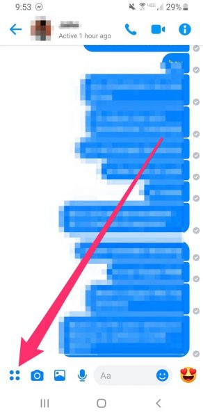First, open the Facebook Messenger App and open the conversation between you and the person you want to ask from. If you have previous conversations saved, you can directly open the chat. But you can click on the pencil option available if you want to start a new conversation.