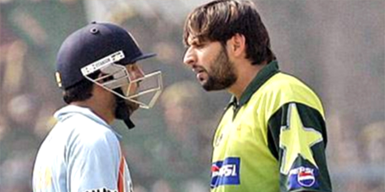 shahid afridi fight with gambhir