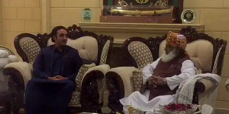 Bilawal Bhutto meets Moulana Fazalur Rehman