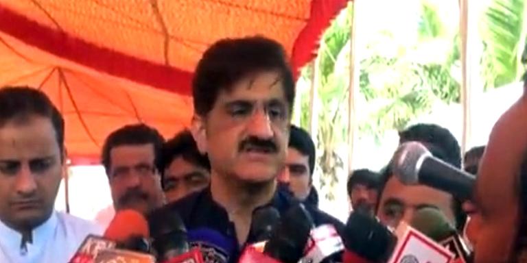 CM Sindh press briefing in Thatta