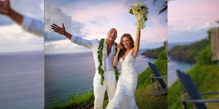 Dwayen Johnson marries Lauren Hashian