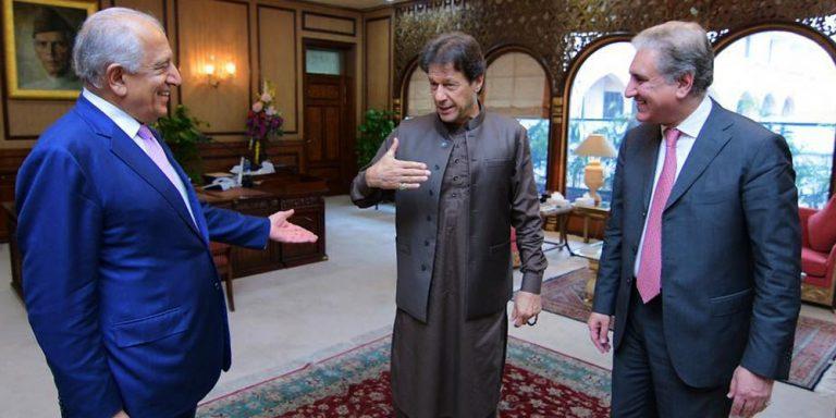 Imran Khan meets Zalmay Khalilzad