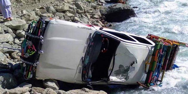 Bus falls into river: Kohistan