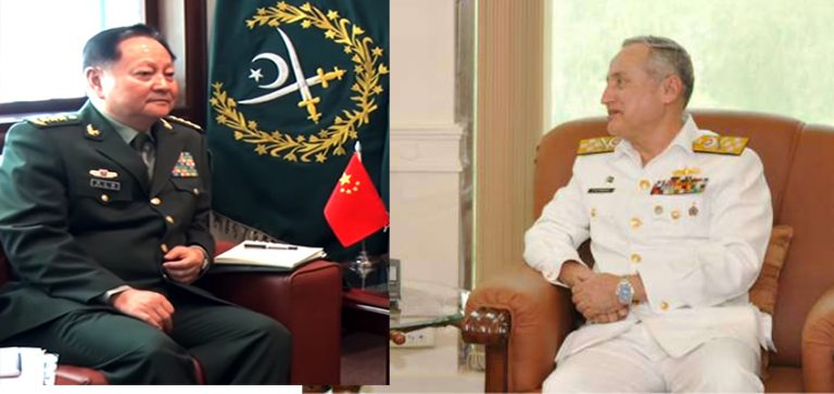 Naval Chief meets Chairman central military of China