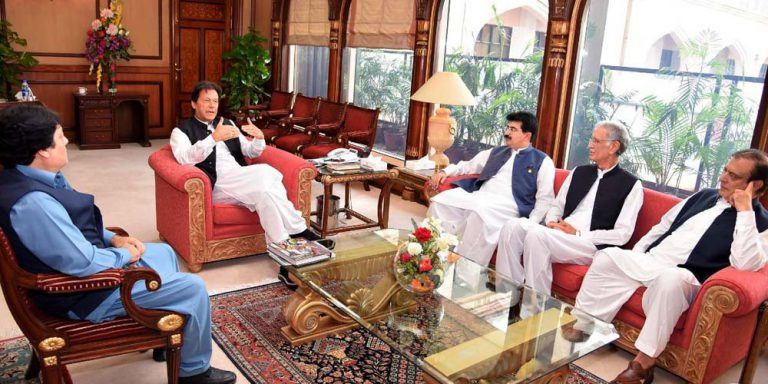 PM Imran Khan meets Sadiq Sanjrani