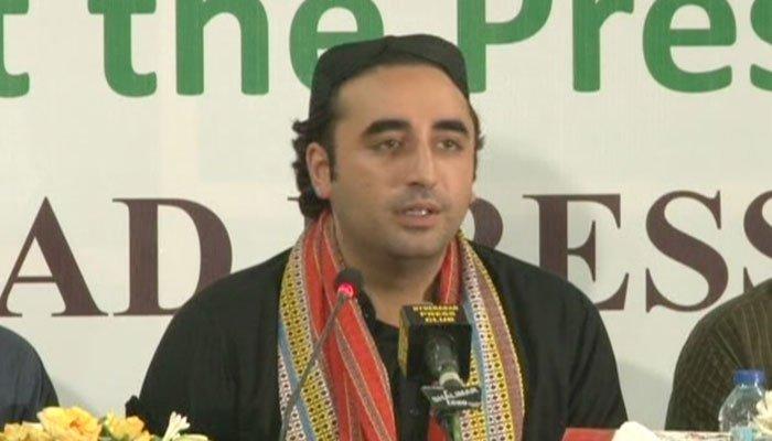 Bilawal addresses press conference at Hyderabad