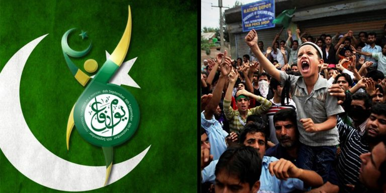 Defense day in solidarity to Kashmir