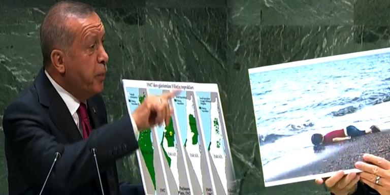 Turkish President Erdogan raises Kashmir issue at UN