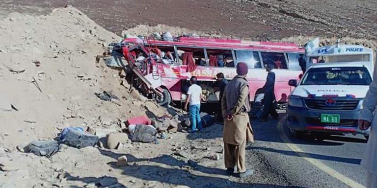 26 killed as passenger bus crashes into mountain in Diamer