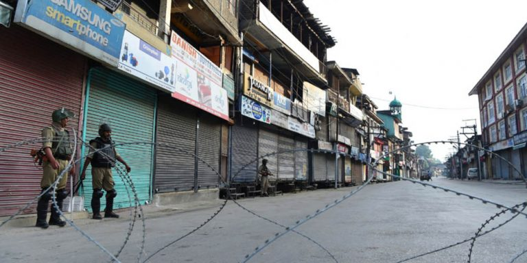 Lock down in Kashmir enters the 49th day