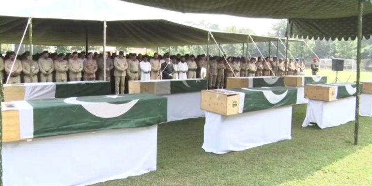 Funeral of Babusar bus incident's victims offered in Gilgit