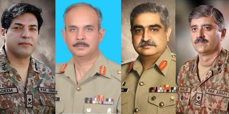 Pakistan Army promotes four Majors General to Lt Gen rank