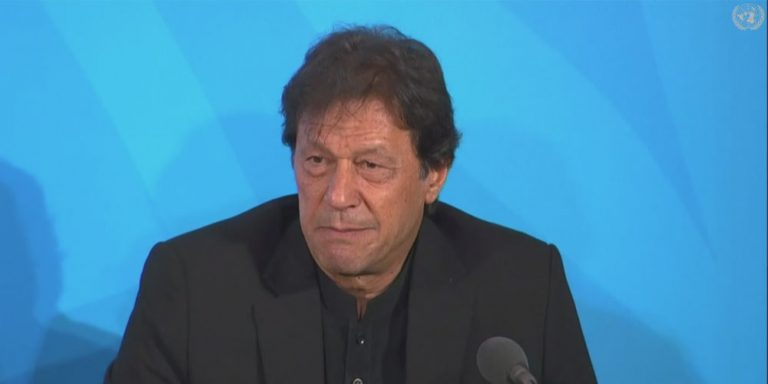 Imran Khan on the sidelines of UN session