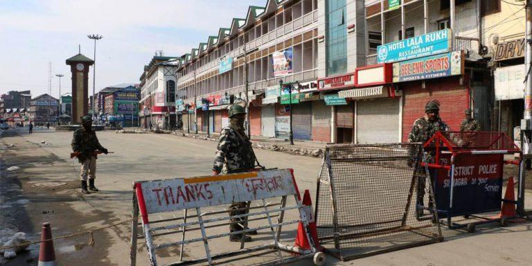 Kashmir valley under lockdown