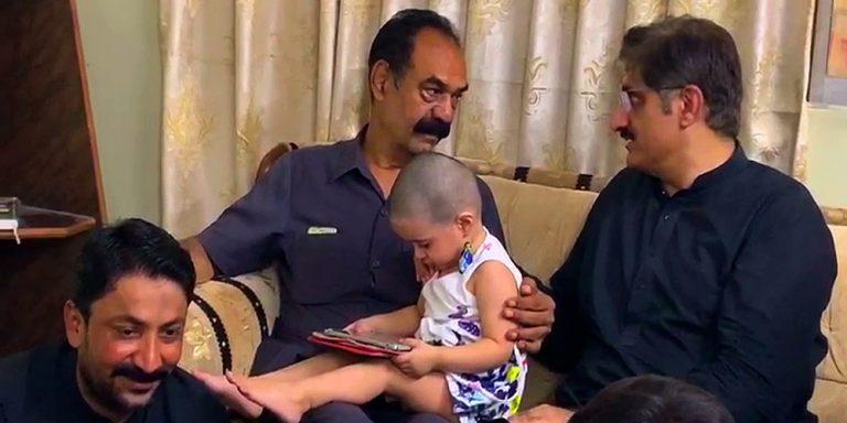 CM Sindh visits Major Adeel's family
