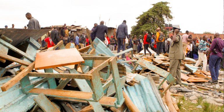 Kenya classroom collapsed killed seven