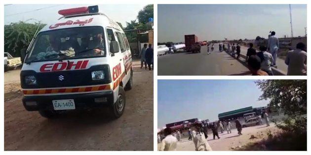 Karachi Super Highway firing