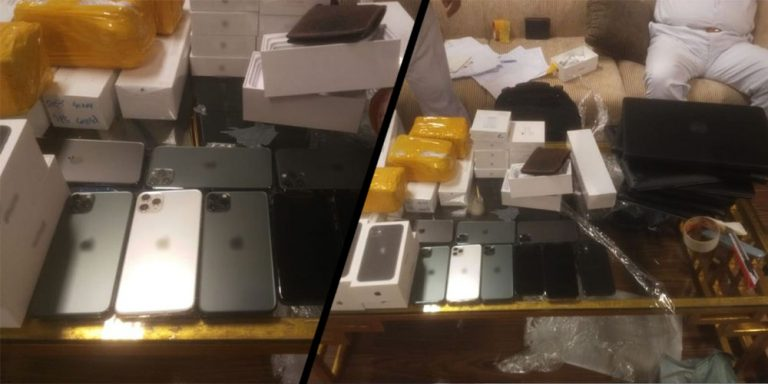 Smartphones, laptops worth Rs8.4 million seized at Karachi airport