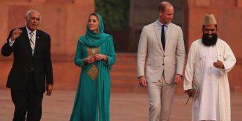 Kate and William visits Badshahi Mosque, Lahore