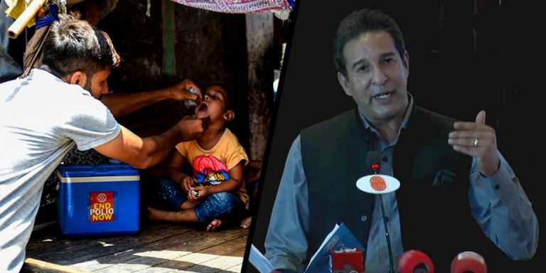 Wasim Akram appointed ambassador for polio eradication
