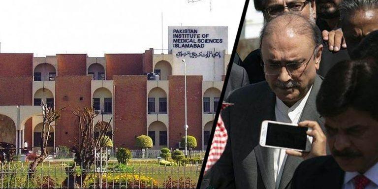 Asif Zardari shifted to Pims hospital