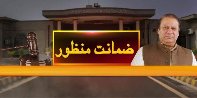 IHC grants bail to Nawaz Sharif