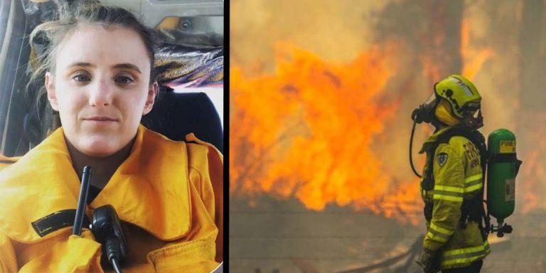 Mum-to-be firefighter helps fight Australian bushfires