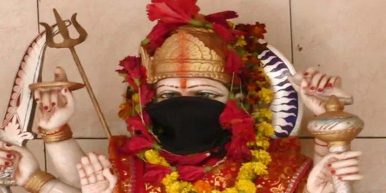 Varanasi deities grab masks as weapon against air pollution
