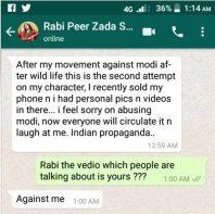 rabi pirzada whatsapp
