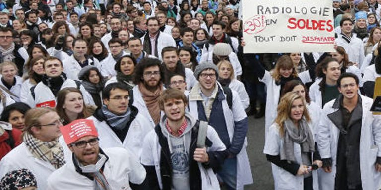 Doctors, nurses held protests in France to save public hospitals