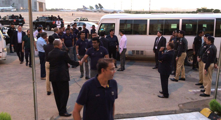 Sri Lankan team arrived Pakistan for two test matches