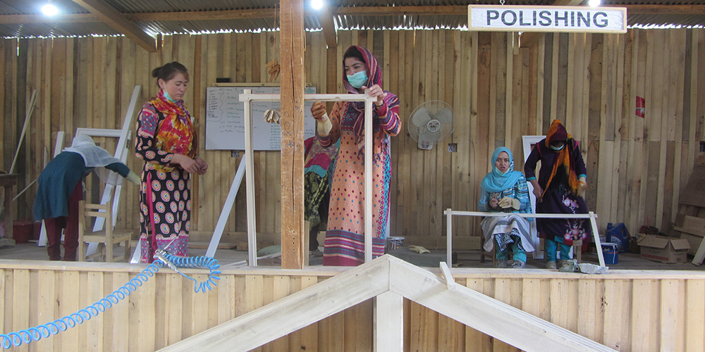women wood workers