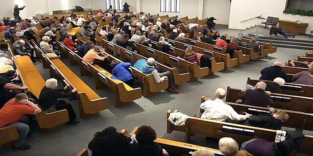 Parishioners shot dead