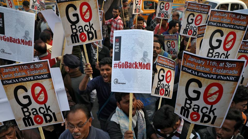 india protest against modi