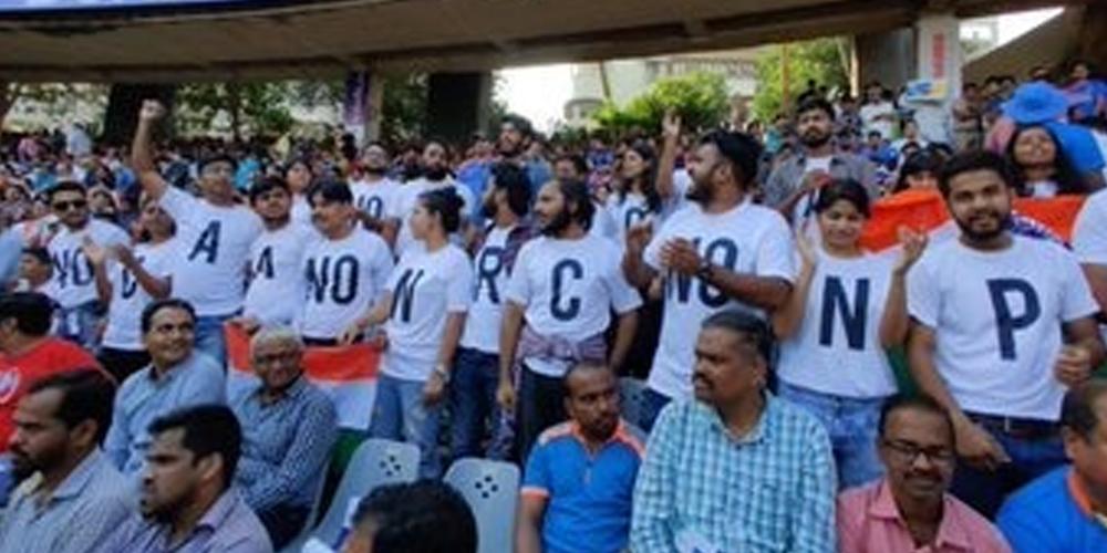IND vs AUS: Anti-CAA protests reach Mumbai Stadium