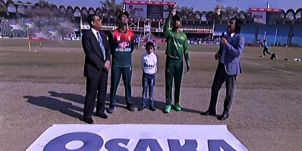 Bangladesh won the toss and decided to bat first in the second T20 match.