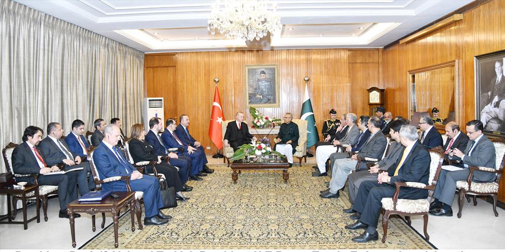 President Dr Arif Alvi and his Turkish Counterpart Recep Tayyip Erdogan
