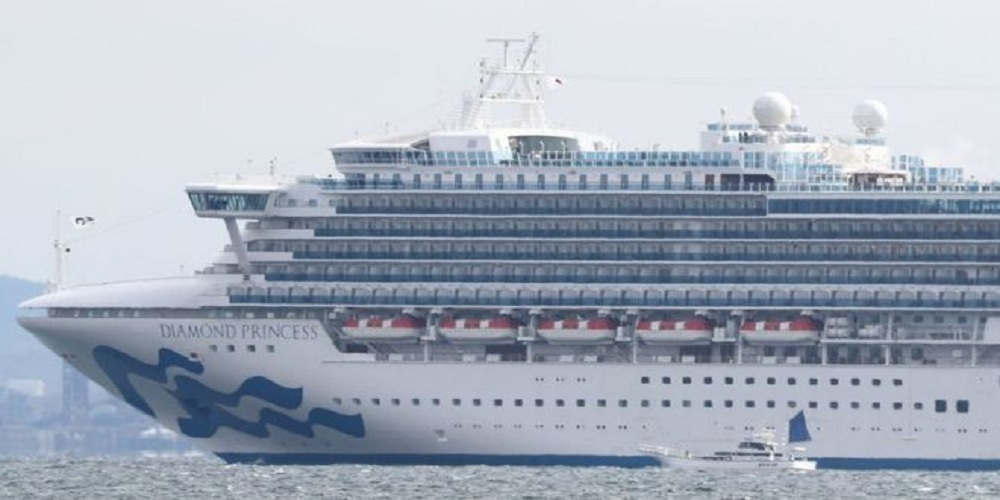 At least 10 people onboard a cruise docked in the Japanese port of Yokohama are diagnosed with coronavirus.