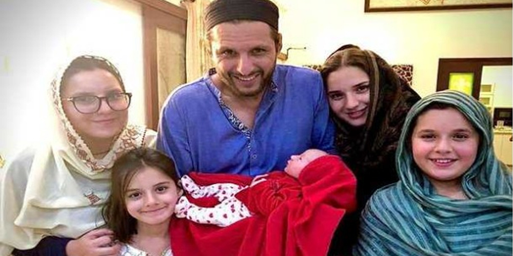 Afridi blessed with baby girl