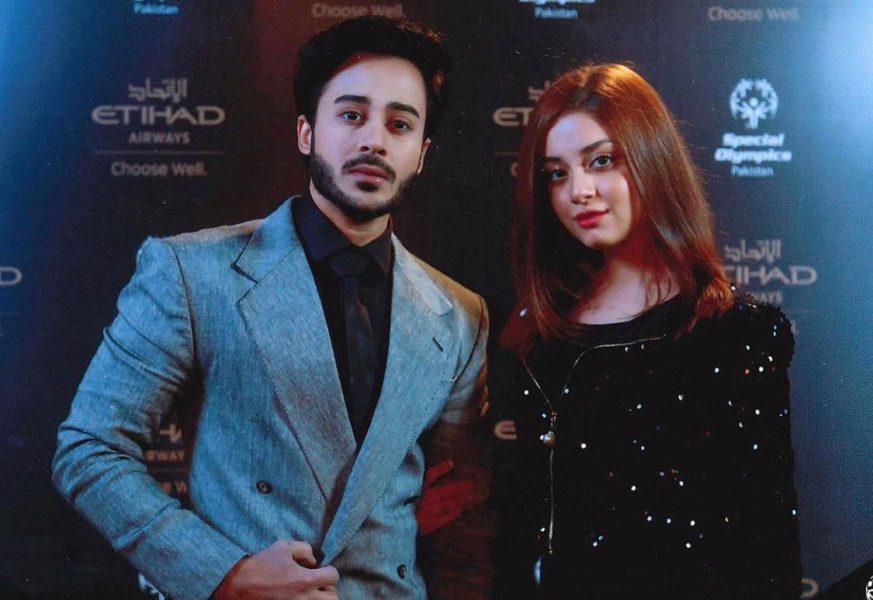 Pakistani celebrities alizeh and Nauman