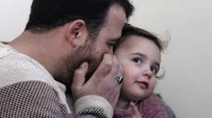 Syrian father and daughter