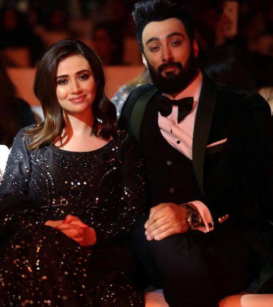 Pakistani celebrities Sana Javed & Umair Jaswal