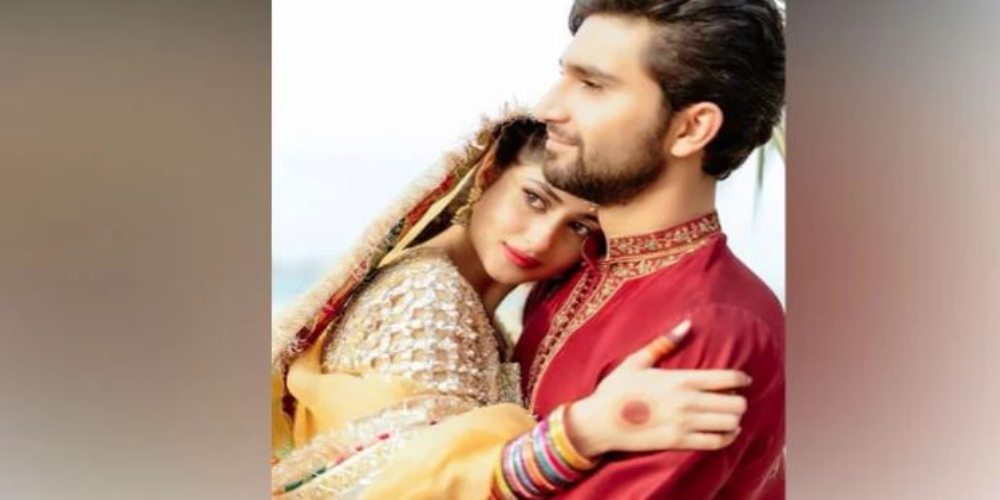 Sajal Aly & Ahad Raza Mir shares their unseen mehndi pictures
