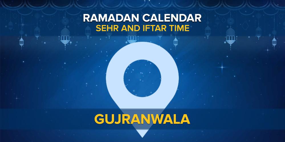Ramadan Calendar 2021 Gujranwala