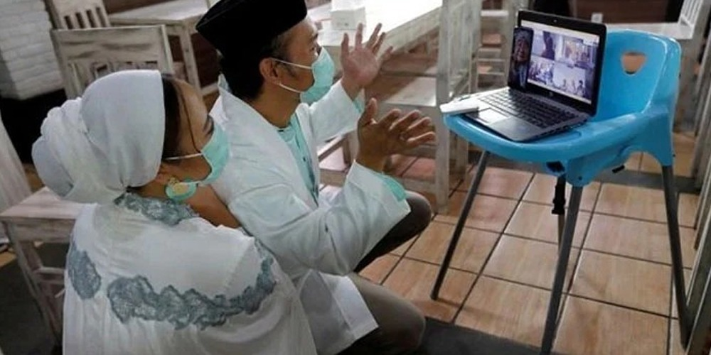 Guests attend wedding via live streaming to maintain social distancing