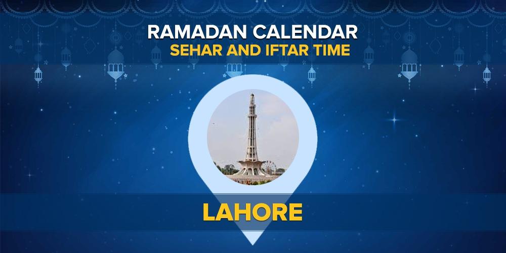 Lahore RAMADAN TIMING 2020