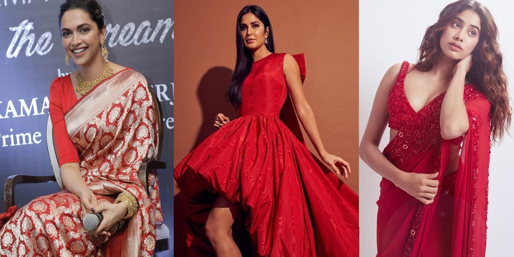 Bollywood celebrities in red