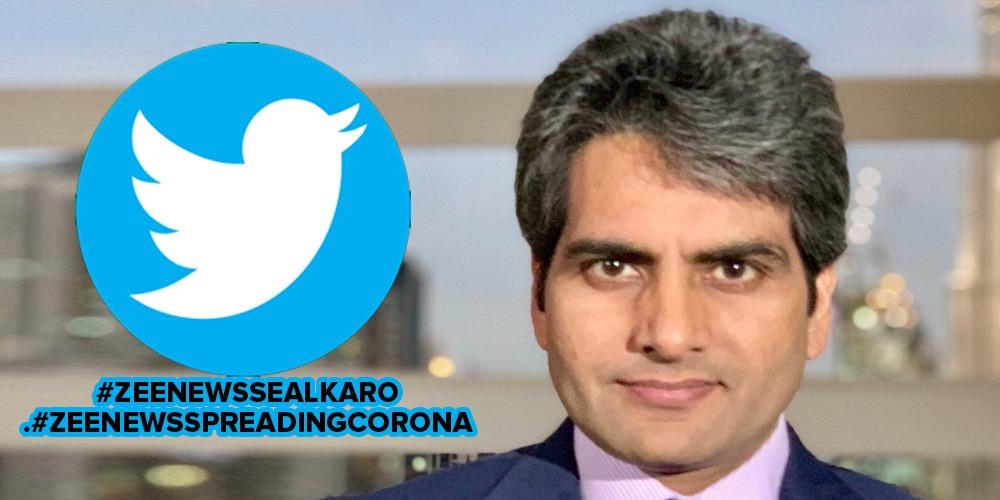 Zee News anchor Sudhir Chaudhary