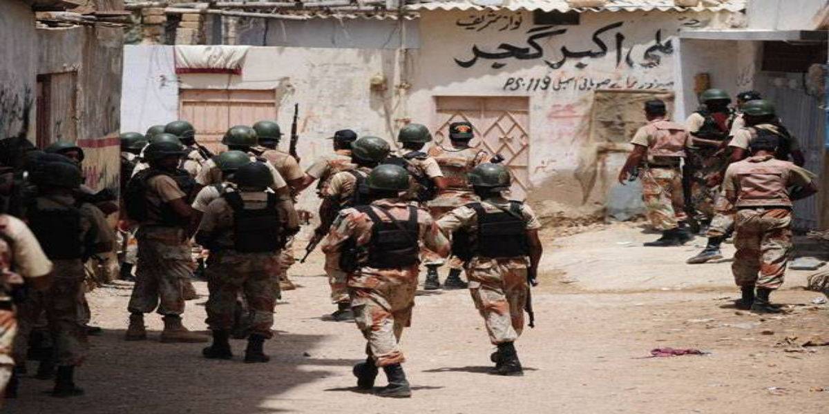 Rangers operations in different areas of Karachi, 12 suspects arrested