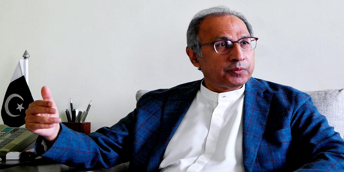 Abdul Hafeez Shaikh media briefing